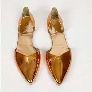Ted Baker Dawfodyl Rose Gold Jelly Flats